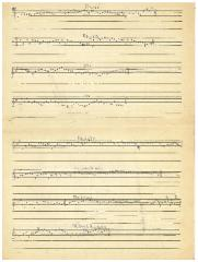 Sheet Music for Jewish Melodies Handwritten by Ernst Kahn