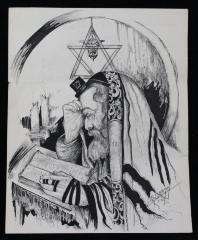 Drawing of a Man Praying by Louis Spiegel
