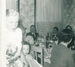 Picture of Rabbi Eliezer Silver at the 1954 Birthday Party of Rivka Goldberg and Abe Alper in Cincinnati, Ohio