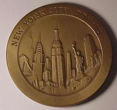 New York City & Tel Aviv Yaffo (Jaffa) Medal