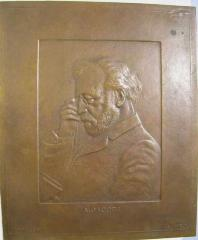 "Portrait Plaque of Dr. Abraham Jacobi, Known as the ""Father of American Pediatrics"""