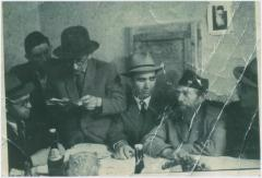 Picture of Rabbi Eliezer Silver at a Gathering in his Honor Upon Arriving in Europe in 1946