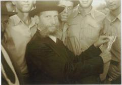 Rabbi Eliezer Silver Performing what is believed to be a Halizah Ceremony