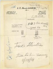 Letter from I. T. Harris Enterprises Regarding Cemetery Care at the Kneseth Israel Congregation Cemetery (Cincinnati, Ohio) - 1960