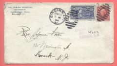 Jewish Hospital of Cincinnati Envelope (Avondale Location) 1904