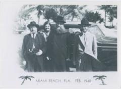 Picture of Rabbi Eliezer Silver in Miami Beach Florida with Unidentified Individuals in 1940