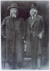Rabbi Eliezer Silver with the  Previous Lubavitcher Rebbe R. Yosef Yitzchak Schneersohn