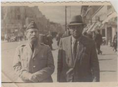 Picture of Rabbi Eliezer Silver in US Army Uniform during his trip to Europe in June, 1946