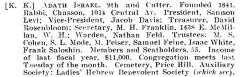 Bio of Adath Israel Congregation (Cincinnati, Ohio) from the American Jewish Year Book 1900 – 1901, 5661