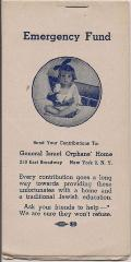 Emergency Fund Stamps for General Israel Orphans' Home for Girls