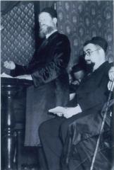 Rabbi Eliezer Silver Speaking at an Unidentified Event