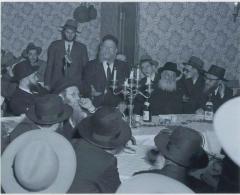 Rabbi Eliezer Silver Speaking at an Unidentified Wedding