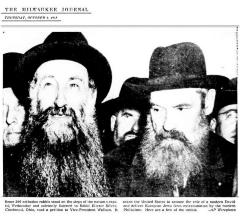 Photo of Rabbis Listening to Rabbi Eliezer Silver Read to Vice President of the United States Wallace the Petition Beseeching the United States to Deliver European Jews From Extermination by the Nazis