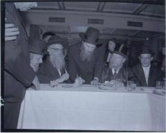 Rabbi Eliezer Silver Seated at an Unidentified Wedding