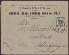 General Israel Orphans' Home for Girls Envelope Cover from 1920
