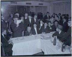 Rabbi Eliezer Silver Seated at an Unidentified Wedding while an Unidentified Rabbi Reads the Kesubah (Marriage Contract).