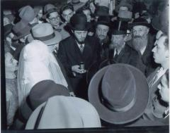 Rabbi Eliezer Silver Under the Chuppah at an Unidentified Wedding