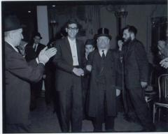 Picture of Rabbi Eliezer Silver with an Unidentified Individual at an Unidentified Wedding