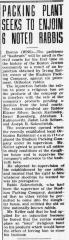 Articles Regarding Court Fight in Boston Massachusetts in 1941 over Kosher Supervision