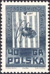 "Polish ""Auschwitz / Oswiecim"" Stamp from the World War II - Memorials of Martyrdom Series"