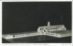 Auschwitz-Birkenau Postcard Showing a Model of a Crematorium in Cross Section