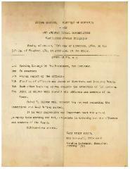 Agenda for Kneseth Israel Congregation (Cincinnati, Ohio) 1940 Annual Meeting