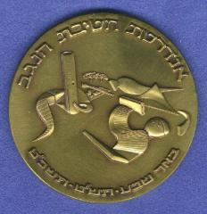 Palmach Negev Brigade Memorial Monument & 25th Anniversary of Israel's Establishment 1973 Medal (Part of Shekel 25th Anniversary Series)