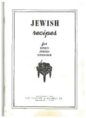 "Proctor and Gamble Co., ""Jewish Recipes for Good Jewish Cooking"""