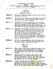 Constitution and By-Laws of the Kneseth Israel Congregation - Washington & Rockdale Avenues - unknown date with 1977 Amendment
