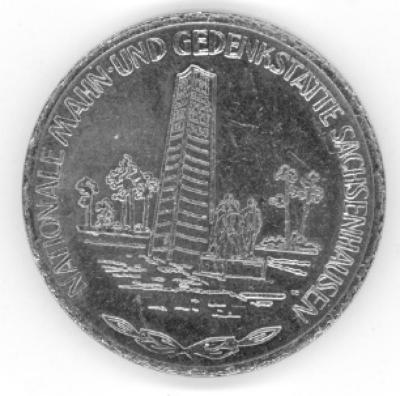 Sachsenhausen German 1984 Commemorative Coin Front/Obverse