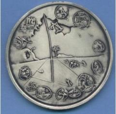 Salvador Dali 1973 25th Anniversary of Israel Silver Medal