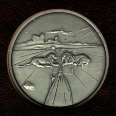 Tribe of Judah - Salvador Dali 1973 25th Anniversary of Israel Silver Medal
