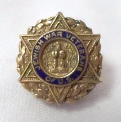 Jewish War Veterans of US Gold & Enamel Lapel Pin