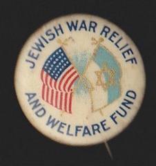 Jewish War Relief and Welfare Fund WWI Button