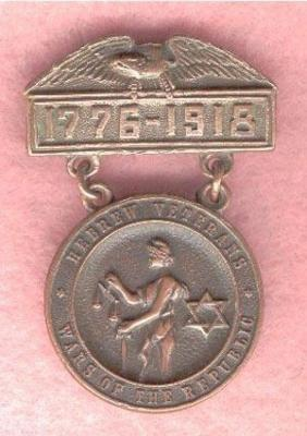 Hebrew Veterans, Wars of the Republic, 1776-1918 USA Medal