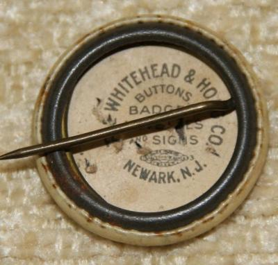 Jewish War Relief and Welfare Fund WWI Button Back/Reverse