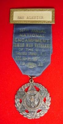 Jewish War Vetrans of the US Medal from the 14th National Encampment in Saratoga Springs, NY