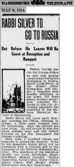 Articles Regarding Rabbi Eliezer Silver's Trip to Russia in 1914-1915