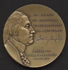 George Washington/Touro Synagogue Medal 1976