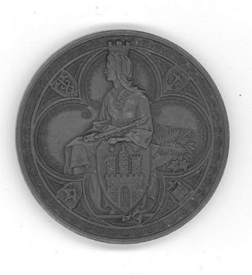 Golden Wedding Anniversary Medal of Louis & Stephanie Nordheim - Hamburg Front/Obverse