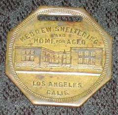 Hebrew Sheltering and Home for The Aged (Los Angeles) Medallion