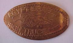 Egypt - & Israel Sign Truce in 1975 Elongated Penny