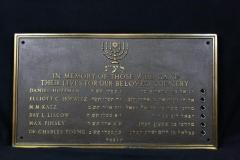 Kneseth Israel Congregation (Cincinnati, Ohio) Memorial Board for Members who Died in World War II