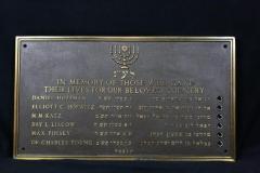 Kneseth Israel Congregation (Cincinnati, Ohio) Memorial Board for Members who Died in World War II