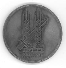 Palmach 40th Anniversary Commemorative Medal