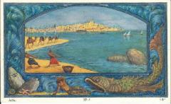 Postcard of the City of Jaffa by Ze'ev Raban