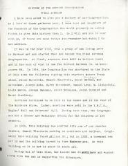 History of The Norwood Congregation (B'Nai Avraham - Cincinnati, Ohio)