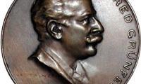 Alfred Grunfeld 70th Birthday Medal Front/Obverse