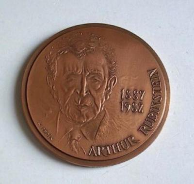 Arthur Rubinstein Medal Front/Obverse