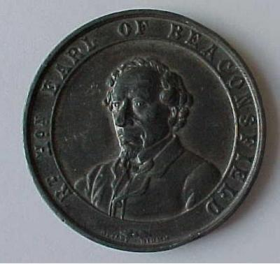 Benjamin Disraeli - Earl of Beaconsfield Death Medal Front/Obverse